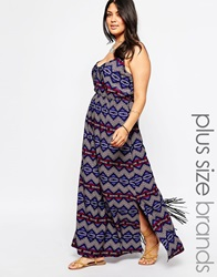 New Look Inspire Aztec Print Maxi Dress Multi