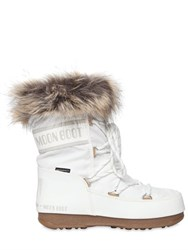 Moon Boot Mb Low Monaco Nylon And Faux Leather Boots