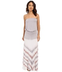 Culture Phit Erin Strapless Tie Dye Maxi Dress Taupe Women's Dress