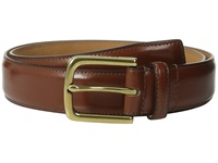 Cole Haan 32Mm Spazzolato Feather Edge Stitched Strap British Tan Brass Men's Belts Brown
