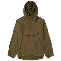 Fred Perry Authentic Ripstop Popover Hood Jacket Green