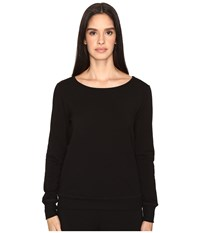 Kate Spade New York X Beyond Yoga Cozy Fleece Bow Pullover Black Women's Fleece