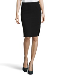 Halston Heritage Side Slit Pencil Skirt Black