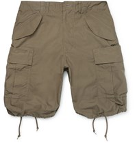 Beams Plus Oliver Slim Fit Cotton Ripstop Cargo Shorts Green