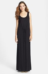 Women's Caslon Drawstring Waist Maxi Dress Black