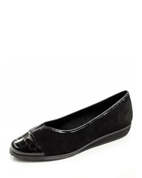 Sesto Meucci Abaka Suede Demi Wedge Pump Black