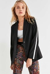 Urban Outfitters Uo Sports Stripe Blazer Black