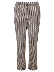 Weekend Maxmara Extra Printed Trousers Dark Brown White