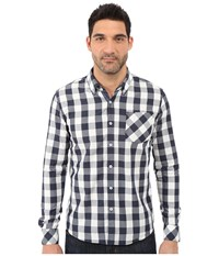 7 Diamonds Tenfold Long Sleeve Shirt Navy Men's Long Sleeve Button Up