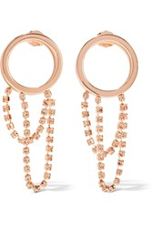 Maison Martin Margiela Maison Margiela Rose Gold Plated Crystal Hoop Earrings