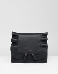 Ted Baker Leather Ruffle Backpack Black