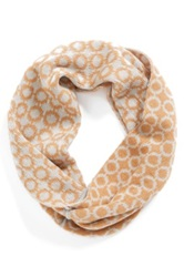 Phase 3 Retro Check Intarsia Infinity Scarf Brown