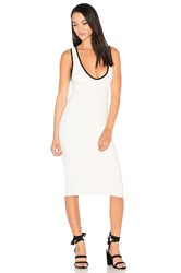 James Perse V Neck Dress Ivory