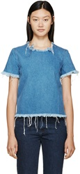 Marques Almeida Faded Blue Denim T Shirt