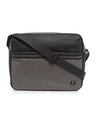 Fred Perry Coated Canvas Shoulder Bag Charcoal