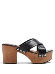 Alexachung Crossover Leather Clogs Black