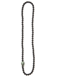 Cb Bronfman Skull Beaded Necklace Black