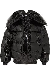 Vetements Quilted Coated Down Jacket Black