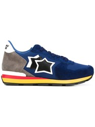 Atlantic Stars Antarn Sneakers Men Leather Suede Nylon Rubber 43 Blue