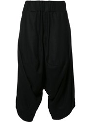 Private Stock Drop Crotch Cropped Trousers Black