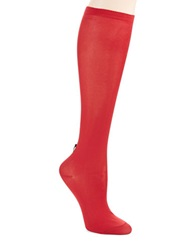 Kate Spade Bow Back Knee Hi Socks Dynasty Red