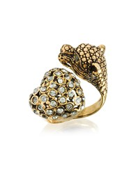 Alcozer And J Rings Panther Heart Brass Ring