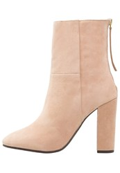 Faith High Heeled Ankle Boots Natural Nude