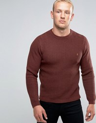 Farah Jumper With Rib In Slim Fit Red Red