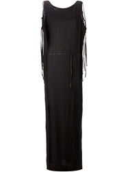 Ann Demeulemeester Tie Detail Evening Dress Black