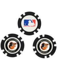 Team Golf Baltimore Orioles 3 Pack Poker Chip Markers Orange
