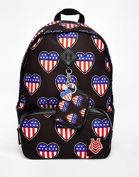 Love Moschino Printed Backpack Black