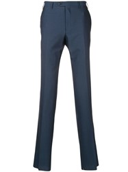 Corneliani Tailored Straight Leg Trousers Blue