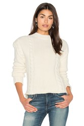 Anine Bing Chunky Knit Sweater Cream