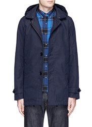 Scotch And Soda Padded Trench Coat Blue