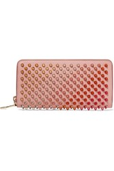 Christian Louboutin Panettone Spiked Leather Wallet Blush