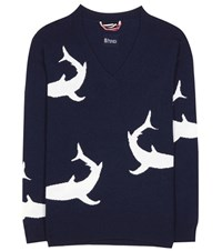 81 Hours Ivy Shark Wool And Cashmere Sweater Blue
