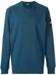 The North Face Slim Fit Logo Sweater Blue