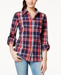 Tommy Hilfiger Plaid Button Front Shirt