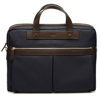 Mismo Navy Ms Office Briefcase Blue