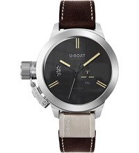 U Boat 8079 Classico Brown Leather Strap Watch