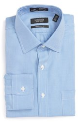Nordstrom Men's Big And Tall Men's Shop Smartcare Tm Traditional Fit Pinstripe Dress Shirt Blue Grape