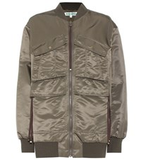 Kenzo Applique Bomber Jacket Green