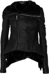 Rick Owens Shearling Jacket Black