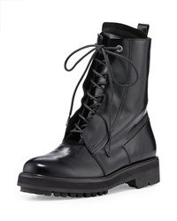 Cnc Costume National Lace Up Leather Combat Boot Black