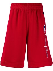 Champion Drawstring Logo Shorts Red
