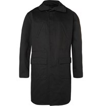 Raf Simons Isolated Heroes Oversized Cotton Twill Hooded Parka Black