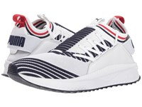 Puma Tsugi Jun Sport Stripes White Peacoat Ribbon Red Shoes Multi