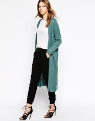 Y.A.S Longline Knit Long Sleeve Cardigan Northatlantic