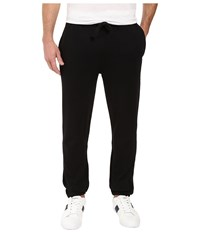 Lacoste Sport Fleece Pants With Elastic Leg Opening Black Men's Casual Pants