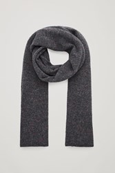 Cos Speckled Cashmere Scarf Grey